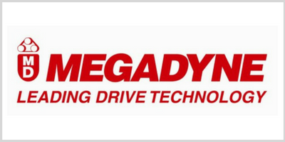Distributors of Megadyne Bearings, Belt Drives, Clutches & Brakes, Bushings, Chain & Sprockets, Conveyor, Couplings, Gearmotor & Gearbox, Idlers & Tensioners, and Torque Limiters